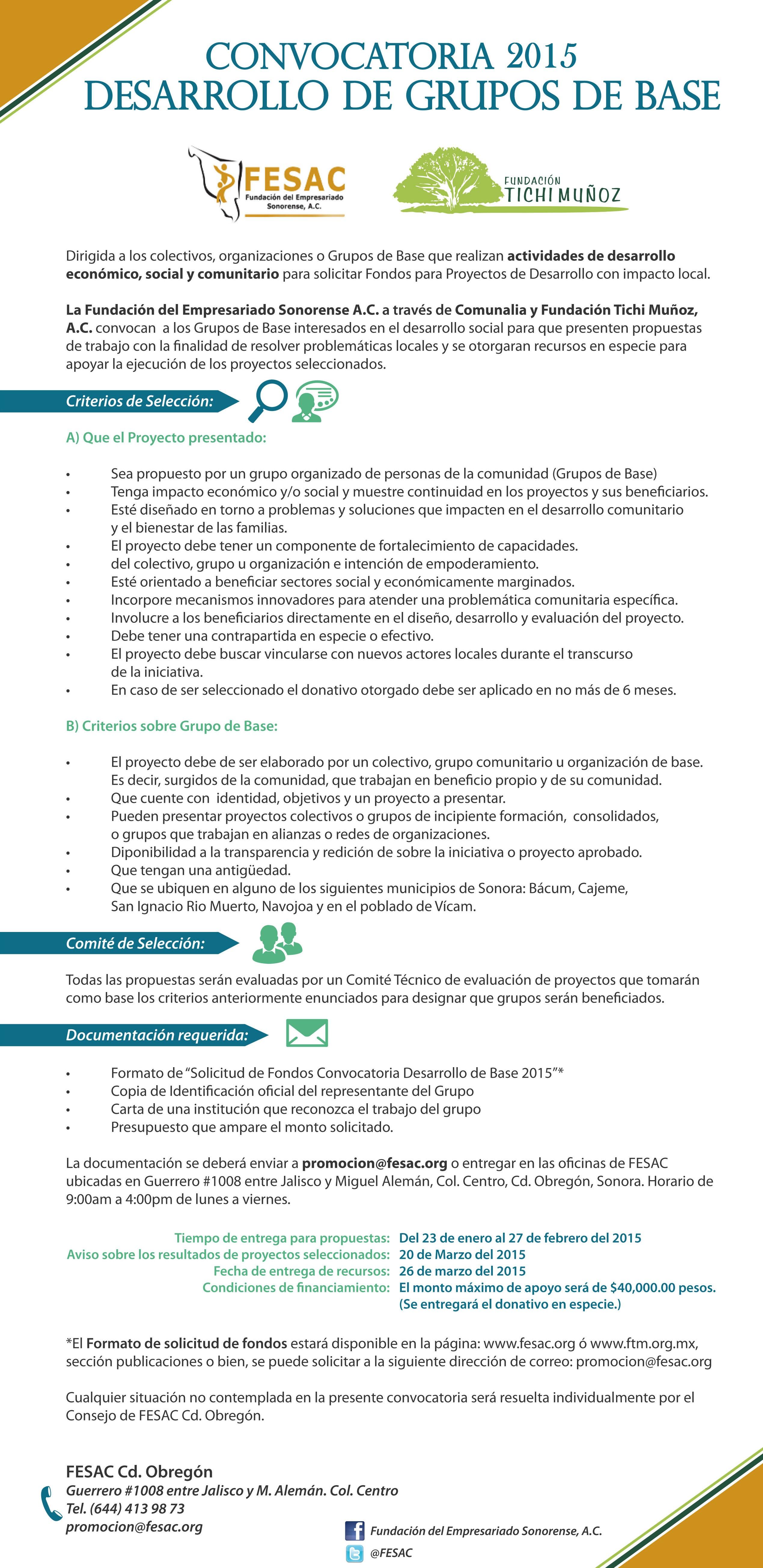 diseño convocatoria fesac-ftm - 2da publicacion